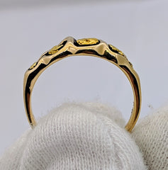Natural Gold Nugget Ring