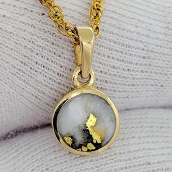 Natural Round Gold Quartz Pendant