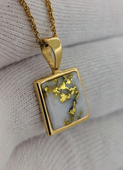 Natural Gold Quartz Pendant