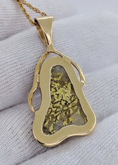 Large Natural Gold Quartz Pendant