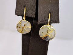 Natural Gold Quartz Earrings