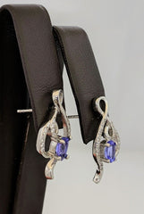 Tanzanite Earrings Silver