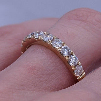Diamond Band Prong Set 14kt Yellow Gold