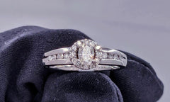 Oval Cut Diamond Ring 14kt White Gold