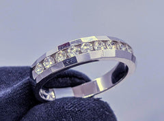 Channel Set Diamond Ring 14kt White Gold