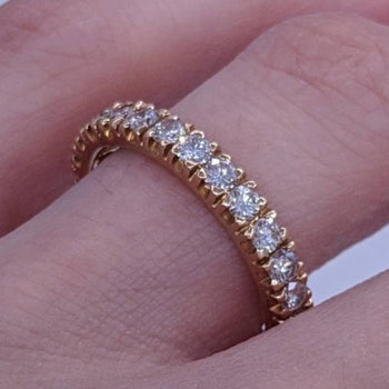 Diamond Eternity Ring 14kt Yellow Gold