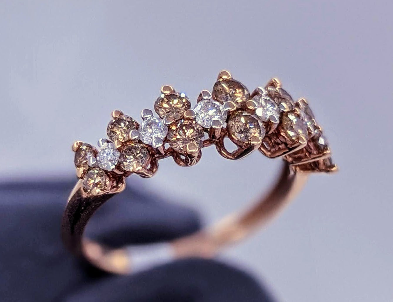 Fancy Brown Diamond Ring 14kt Rose Gold
