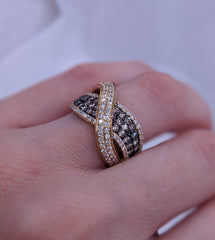 Fancy Brown Diamond Ring 14kt Yellow Gold