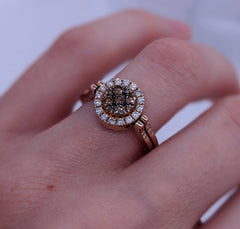 Reversible Glacier Blue & Fancy Brown Diamond Ring