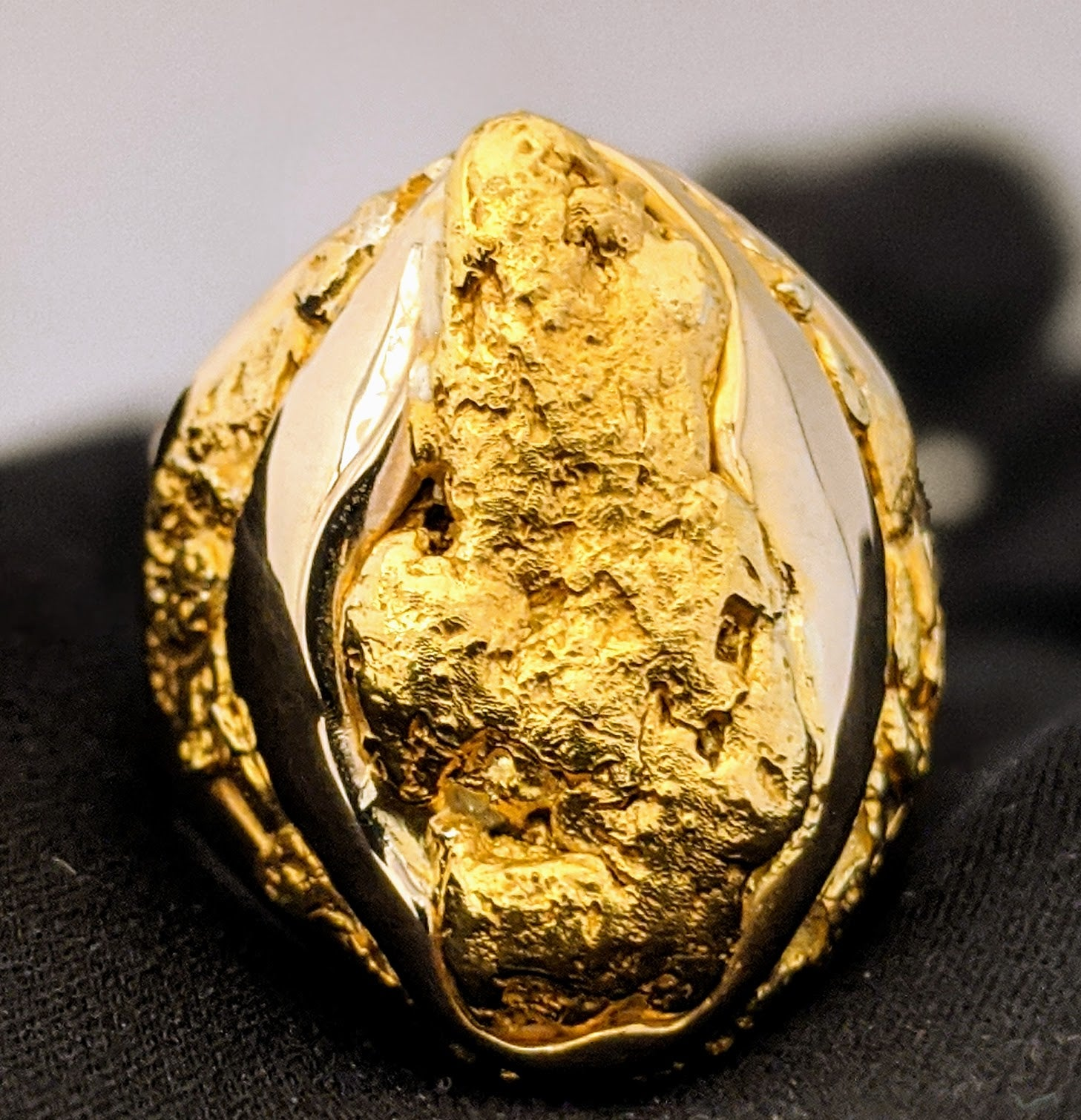 Large Natural Gold Nugget Men
