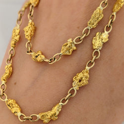Natural Gold Nugget Necklace