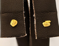 Small Natural Gold Nugget Stud Earrings