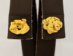 Natural Gold Nugget Stud Earrings