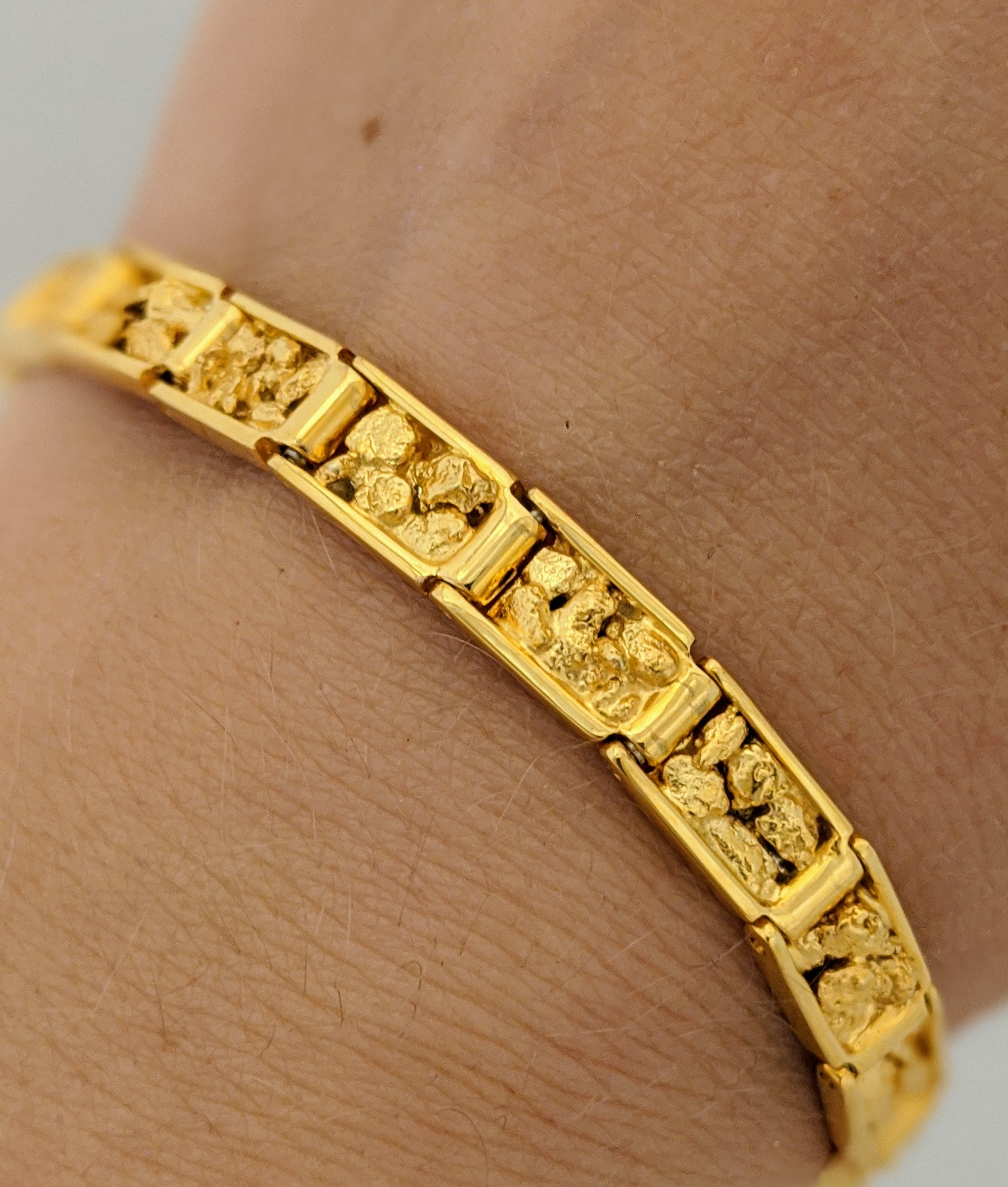 Natural Gold Nugget Bracelet