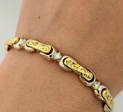 Natural Gold Nugget Diamond Bracelet