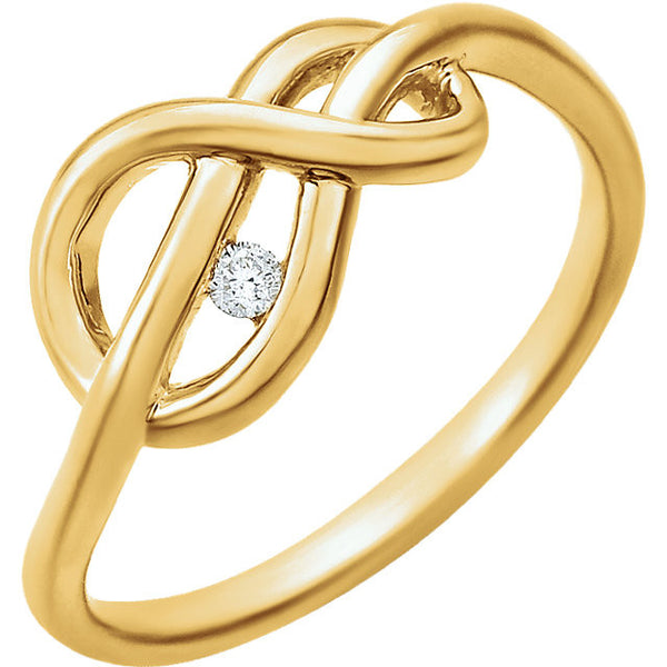 DIAMOND KNOT RING 14KT GOLD