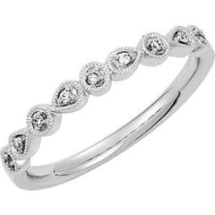 DIAMOND BAND Ring 14KT WHITE GOLD RING