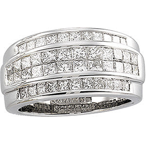 PRINCESS CUT DIAMOND RING 14KT WHITE GOLD