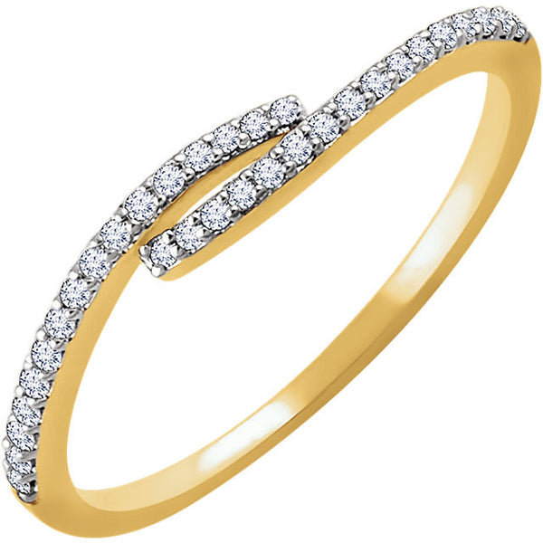DIAMOND BAND 14KT GOLD RING