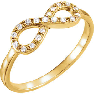 DIAMOND INFINITY RING 14KT GOLD