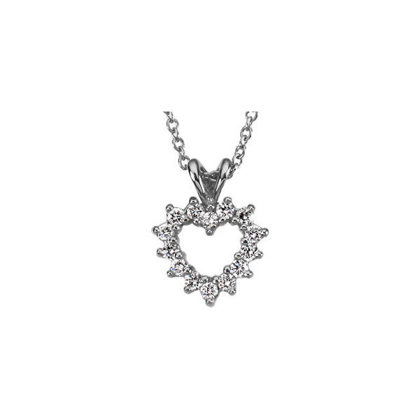 DIAMOND HEART PENDANT PLATINUM