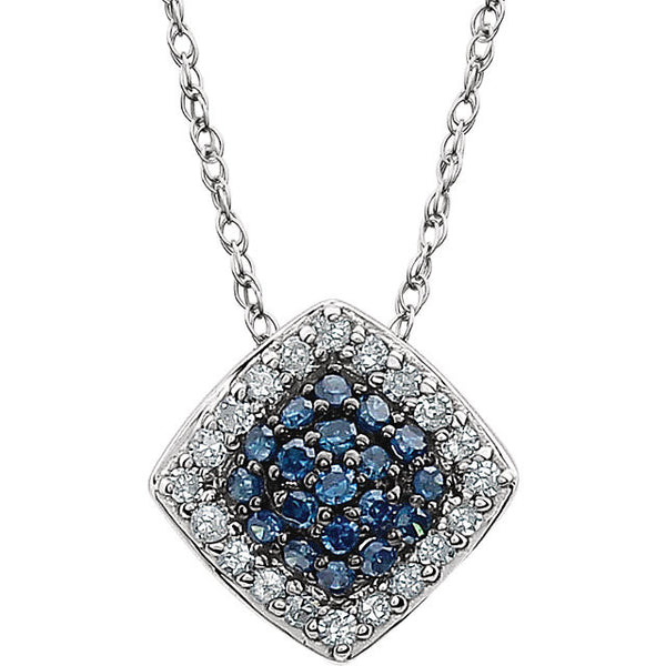Necklaces aurora jewelers glacier blue white diamond necklace 14kt white gold mozeypictures
