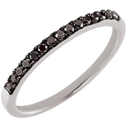 BLACK DIAMOND BAND 14KT WHITE GOLD