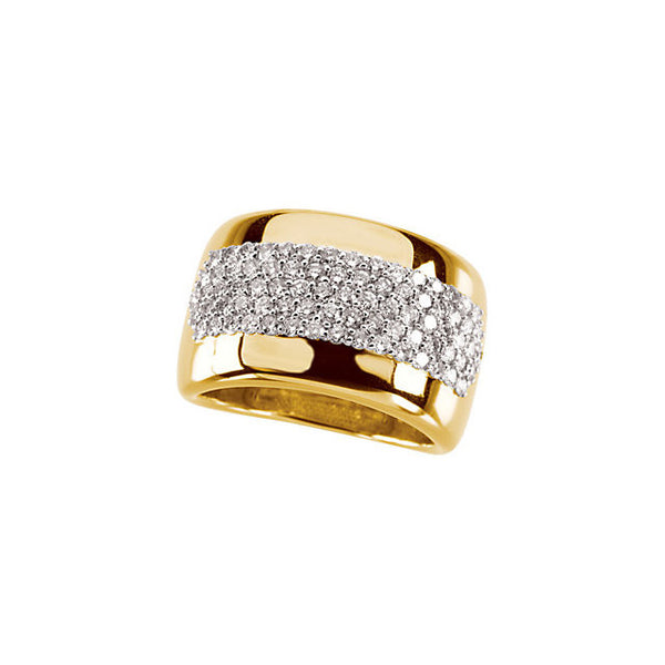 DIAMOND RING 14KT YELLOW GOLD