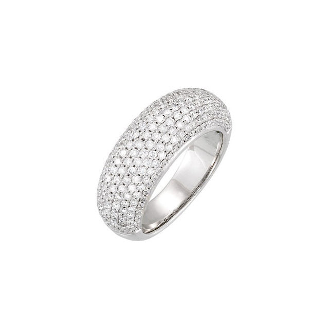 PAVE DIAMOND RING 14KT WHITE GOLD