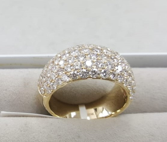 PAVE DOME RING 14KT