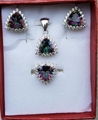 NORTHERN LIGHTS RING, PENDANT & EARRINGS BOX SET