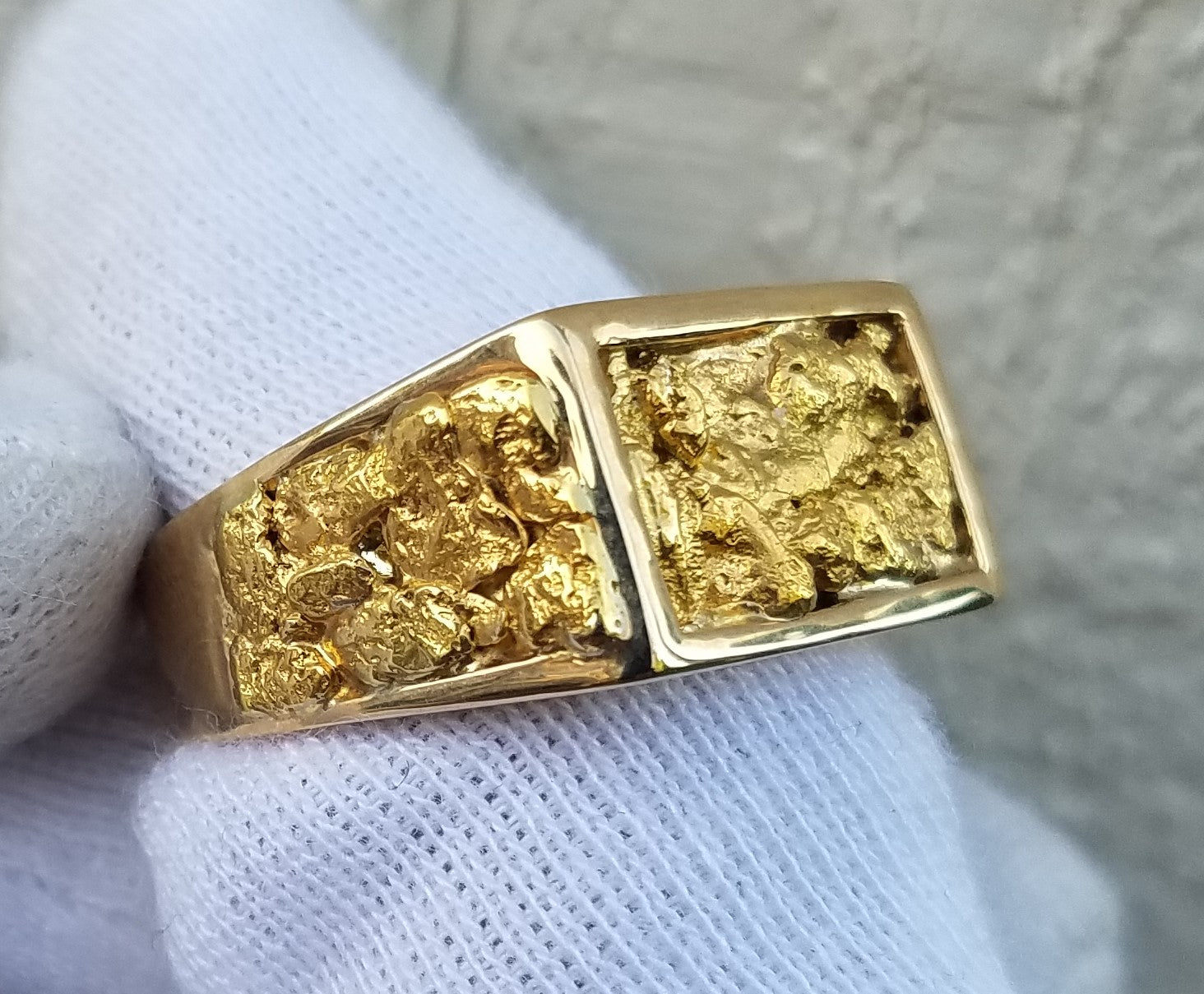 Natural Gold Nugget Men