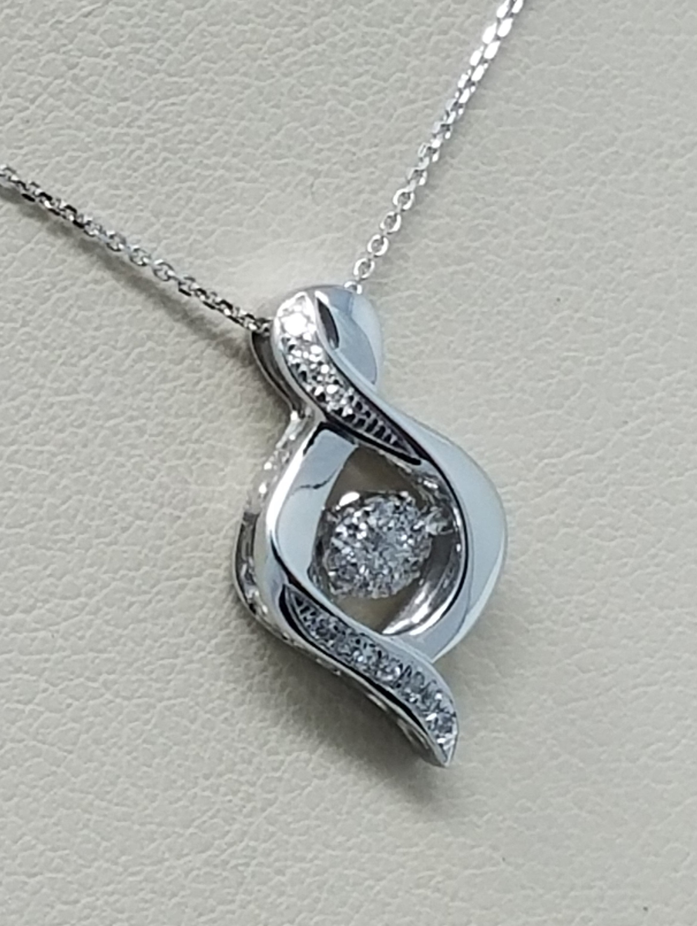a zl silver quot halo cz fuem with teardrop chandelier double pendant dancing diamond pendants sterling amp nana