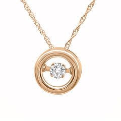 DANCING DIAMOND PENDANT 14KT ROSE GOLD