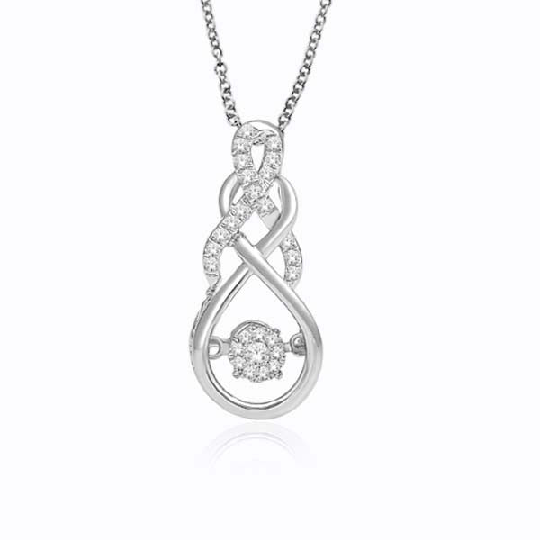 DANCING DIAMOND PENDANT 14KT GOLD
