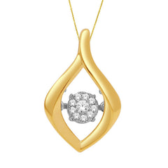 DANCING DIAMOND PENDANT 14KT YELLOW GOLD