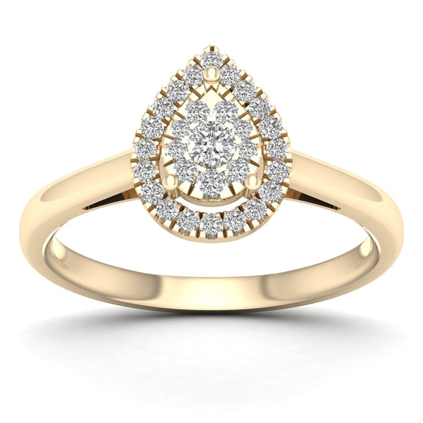 PEAR SHAPE DIAMOND RING 14KT GOLD