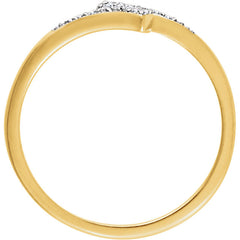 DIAMOND RING 14KT GOLD BAND