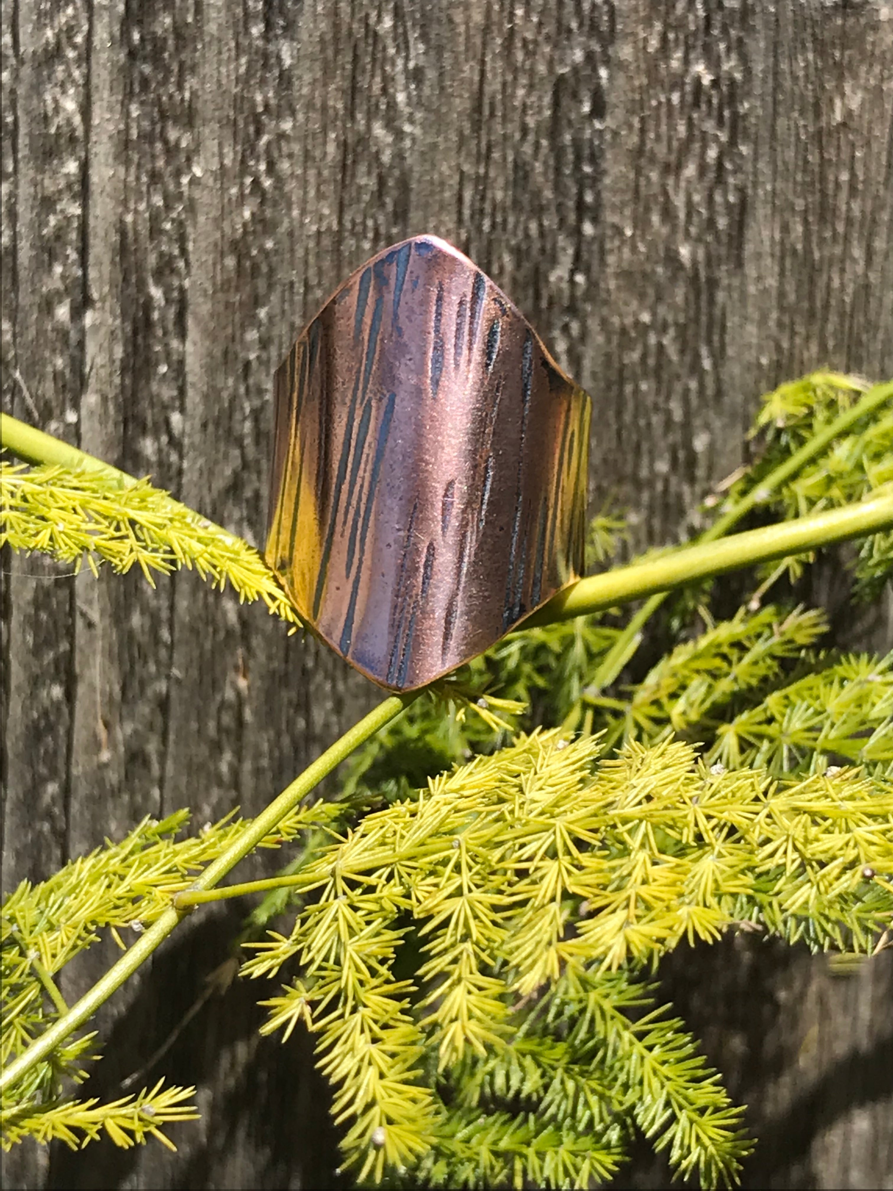 Copper Shield Ring