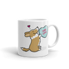 Intl - Cardigan Corgi Candy Heart Mug - Red
