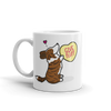 Cardigan Corgi Candy Heart Mug - Brindle