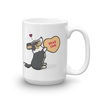 Cardigan Corgi Candy Heart Mug - Black Headed Tri-Color