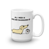 Coffee and Dachshund Mug - Cream