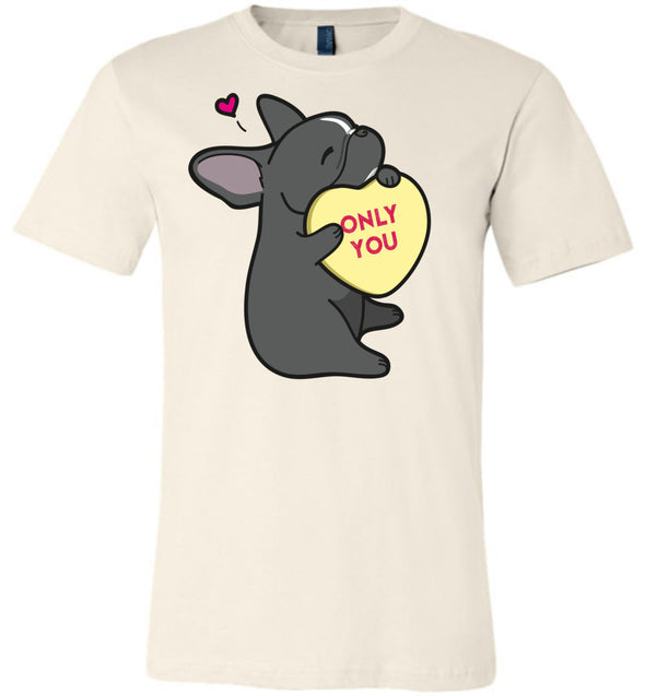 Frenchie Candy Heart Tee - Black