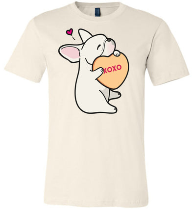 Frenchie Candy Heart Tee - Cream