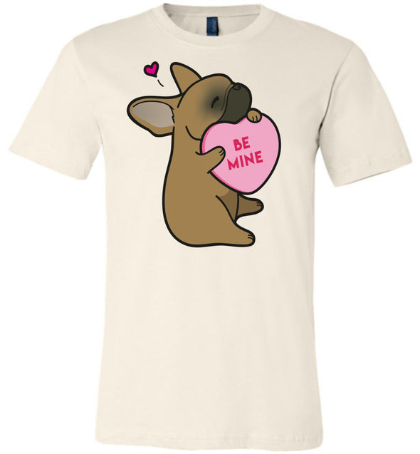 Frenchie Candy Heart Tee - Red Fawn
