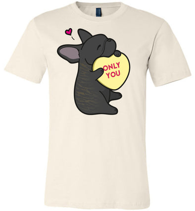 Frenchie Candy Heart Tee - Brindle