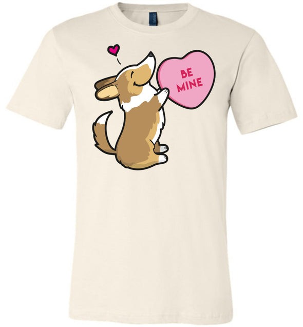Corgi Candy Heart Tee - Sable with Tail