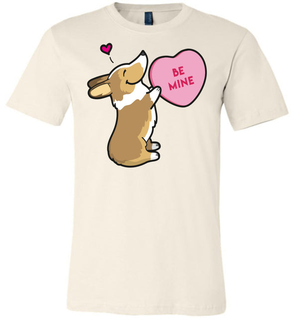 Corgi Candy Heart Tee - Sable
