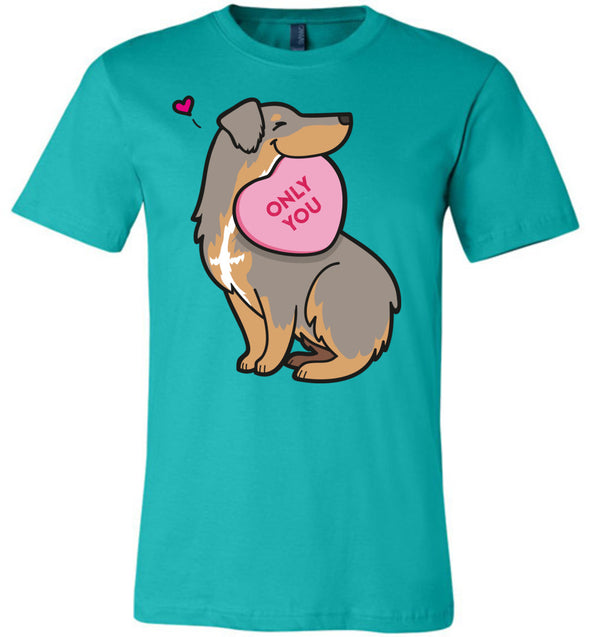 Aussie Candy Heart Tee - Dilute Red